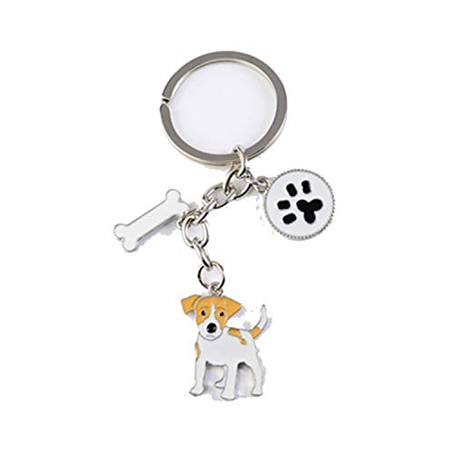 Terrier Pendant Key Chains For Women Men Girls Alloy Metal Silver Color Pet Dog Charm Car Bag Key Rings Keychain Gift,Jack Russell Terrier