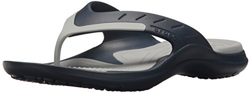 crocs Unisex-Adult Modi Sport Flip,Khaki/Espresso,15 US Men/17 US Women Navy/Light Grey