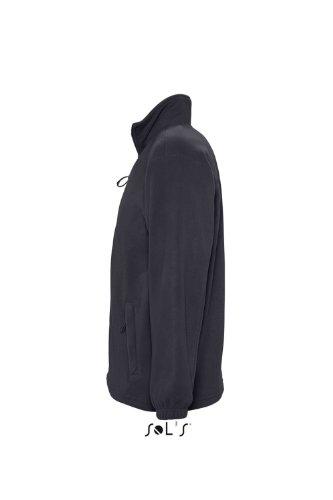 Charcoal zipée Centrale Grey Veste Solid North polaire Club Gris homme SOL'S wwpPF8xqZ
