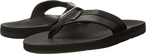 Scott Hawaii Mens Size 14 Black Vegan Leather Sandals | Reef Walking Flip Flops for Men | Neoprene Comfort Waterproof Shoes | Guarantee All Day Arch Support Palaole | Comfortable Slipper