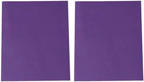 Artibetter 2枚の熱転写フィルムpvcホット印刷フィルムdiy Tシャツ布バッグ用品紫