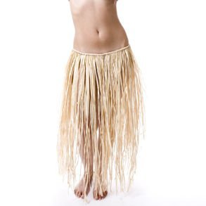 Fun Express Adult Natural Raffia Grass Skirt ()
