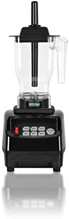 OmniBlend V Commercial Blender for Smoothies Shakes Cocktails, Heavy Duty 3-Speed, Self-Cleaning, Includes Multi-functional 2-in-1 Wet Dry Blades, 1.5 Liter BPA-Free Shatter-Proof Jar Black