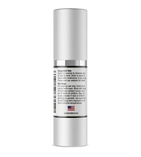 31e3MXnMDzL - Natures Esthetics Vitamin C Serum with Hyaluronic Acid for Face - Anti-Aging, Pore Minimizer, Acne Treatment, Skin Brightening and Tightening. Packaging Prevents Oxidation. Air-Tight 1 fl.oz