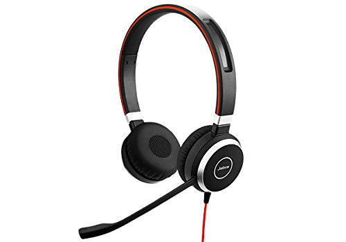 Jabra Evolve 40 UC Professional Wired Headset, Stereo - Telephone Headset for Greater Productivity, Superior Sound for Calls and Music, 3.5mm Jack/USB Connection, All-Day Comfort Design, UC Optimized