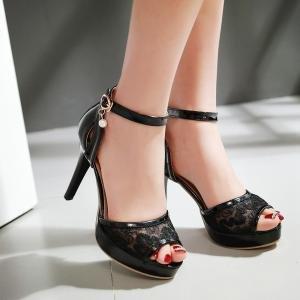 mujer Planos Cordones hexiajia con negro Zapatos 0x6wRgqIR