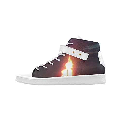 Artsadd Beach Bonfire Blazing Round Toe Womens Shoes Boost Sneaker