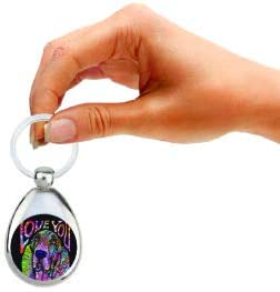 Enjoy It Basset Hound Keychain Features The Pop Art of Dean Russo Double Sided /& Chrome Finish