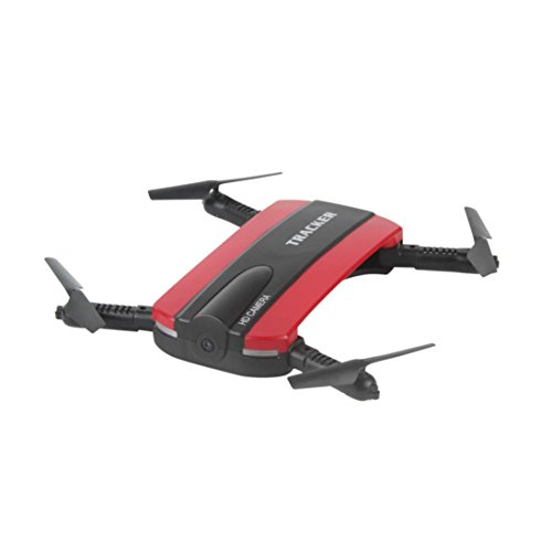Creazy JXD 523W Altitude Hold HD Camera WIFI FPV RC Quadcopter Drone Selfie Foldable (Red)