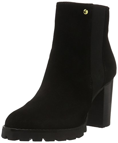 BUFFALO B118a-54 P880a Imi Suede, Zapatillas de Estar por Casa para Mujer Negro - negro (negro 01)