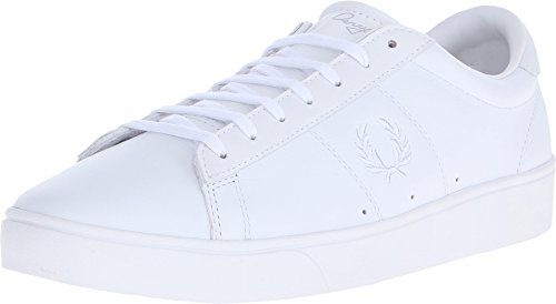 Fred Perry Court Spencer Leather Sneaker, White, 8 D UK (9 (Best Fred Perry Mens Sneakers)