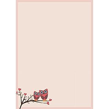 25 Blatt Liebe kariertes Herz A4 Designpapier Valentinstag 90g-Papier