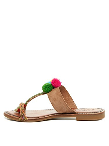 Inuovo - Sandalias de vestir de Cuero para mujer marrón marrón 38