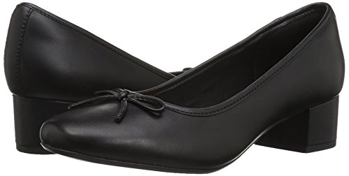 31ZkIL79eQL Clarks Women's Chartli Daisy Dress Pump, Black Leather, 8 M US