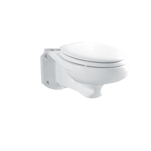 American Standard 3402.016.020 Glenwall Pressure-Assisted Wall-Mounted Elongated Toilet (Bowl Only), White by American Standard