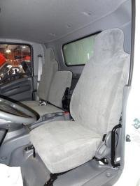 Durafit Seat Covers I2280-C8 - Isuzu NPR front 40/60 Split Bench Seat. Driver side bucket, Passenger side Bench Gray Endura Waterproof Seat (Split Front Bench Seat)