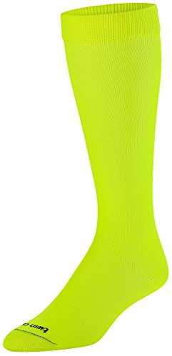 TCK Sports Krazisox Neon Over the Calf Socks, Neon Yellow, Medium (Soccer Socks Yellow)