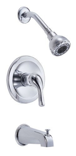 Danze Chrome Tub - Danze D510011T Melrose Single Handle Tub and Shower Faucet Trim Kit, Chrome (Valve Not Included)