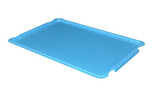 Toteline 8870085268 Lid for Stacking Containers 870008, 880008, Glass Fiber Reinforce, Plastic Composite, 25.75'' x 17.75'', Blue by Toteline