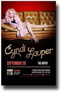 """Price comparison product image Cyndi Lauper Poster - 11 x 17 Promo for a Concert on the """"Detour"""" Album Tour -- SLC-X"""