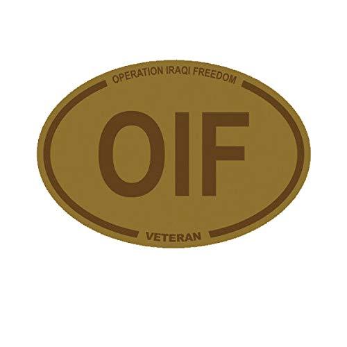 Morgan Graphics Desert Camo Operation Iraqi Freedom Veteran OIF Oval Sticker Army USMC Navy USAF Vinyl Decal Sticker Car Waterproof Car Decal Bumper Sticker 5