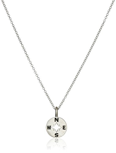 """Dogeared """"Going Places"""" Compass Disc Chain Necklace"""
