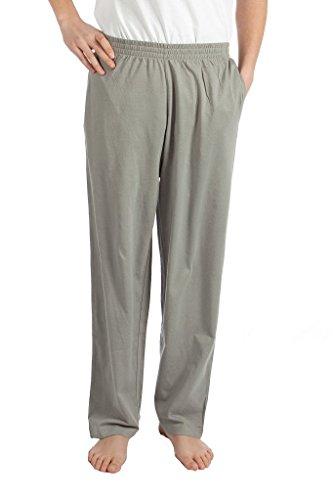 Gray Knit Pants (Pembrook Mens Jersey Knit Pants-XL-Gray)