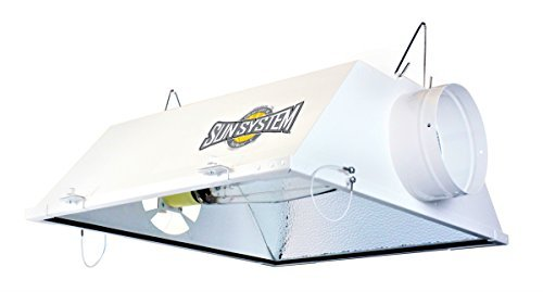 "Sun System Grow Lights - Yield Master - Air-Cooled | Single End | Metal Halide / HPS | Reflector - 6"" Air Duct Fittings - For Hydroponic and Greenhouse Plant Use"