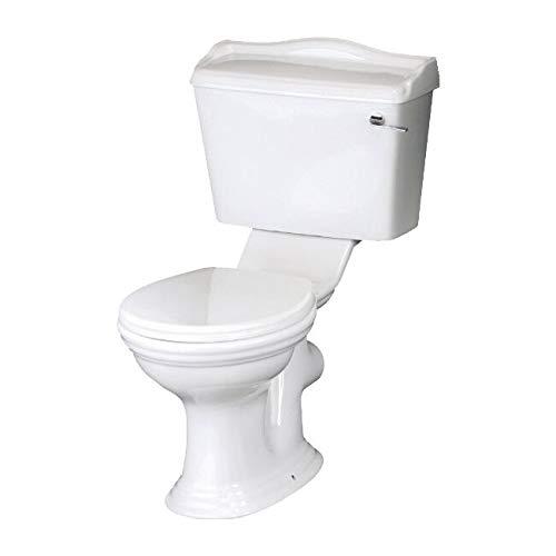 Traditional Close Coupled Toilet Pan White Ceramic