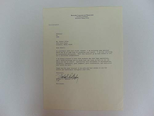 """Cardiovascular Surgeon"" Michael DeBakey Signed Letter on Letterhead Mueller COA from Unknown"
