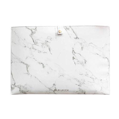 Luxury Marble File Folder Document Resume Organizer Clipboard Portfolio A4 Letter Size Waterproof File Holder (Marble White) by ANTIMAX