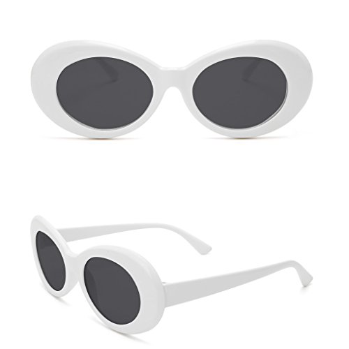 Doober Vintage Men Women Sunglasses UV400 Outdoor Sports Eyewear Glasses Fashion Shades (White&Gray, - Men For Sunglasses Oval
