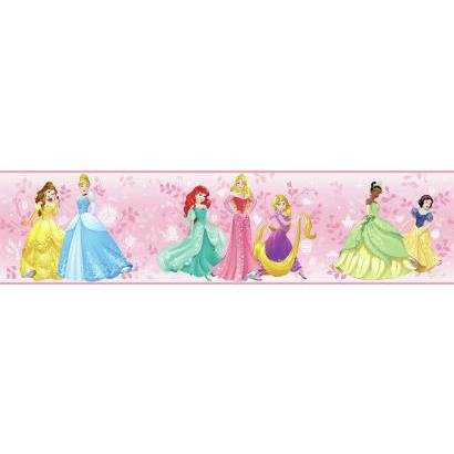 York Wallcoverings Kids III Disney Princess Border, Pinks