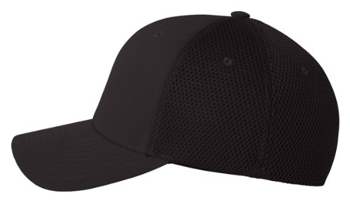 Flexfit 6533 Ultrafibre & Airmesh Fitted Cap, Black - Large/X-Large