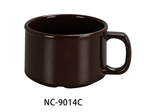 Yanco NC-9014C Sesame Chocolate Soup Mug, 12 oz Capacity, 2.75