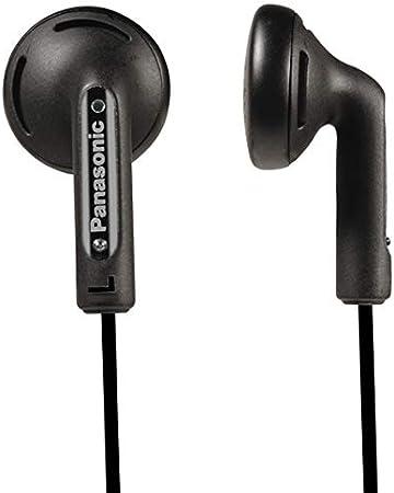 Panasonic RP-HV094, Auriculares Botón con Cable In-Ear (Headphone Sonido Estéreo para Móvil, MP3/MP4, Diseño de Ajuste Cómodo, Mini Jack 3.5mm), Con Cable, Negro