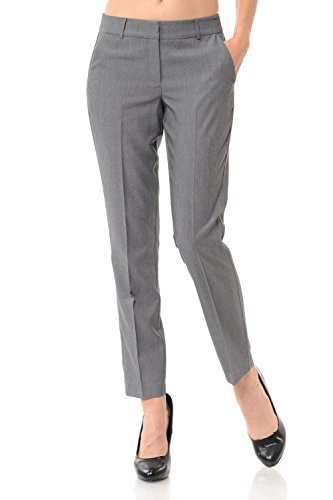Cheap Maryclan Women's Solid Cool Tropical Career Office Wear Pants w/Waistband
