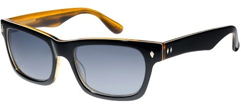 Tres Noir Waycooler Wayfarer Sunglasses,Black & Honey,52 mm -