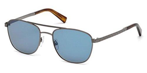 Sunglasses Ermenegildo Zegna EZ 71 EZ 0071 12V shiny dark ruthenium / - Ruthenium Sunglasses