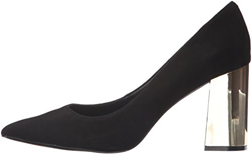 Steve Madden Women's Pointur Dress Pump, Black Suede, 6 M US