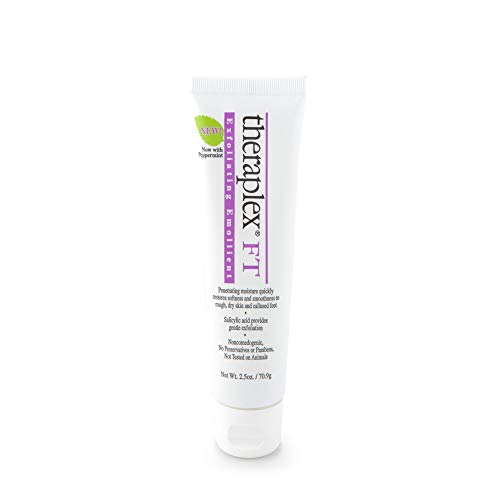 Emollient Theraplex - Theraplex Exfoliating Emollient Cream, Salicylic Acid for Gentle Exfoliation, No Parabens or Preservatives, Non-Comedogenic. Dermatologist recommended - Peppermint - 2.5 oz
