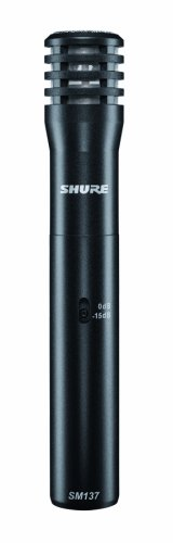 Shure SM137-LC Cardioid Condenser Microphone, includes Zipper Pouch and Microphone Clip ()