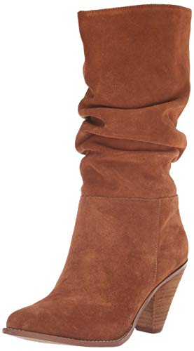 (Chinese Laundry Women's Stella Mid Calf Boot, Rusty Brown Suede, 7.5 M US)