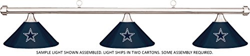Imperial NFL Dallas Cowboys Blue Metal Shade & Chrome Bar Billiard Pool Table Light