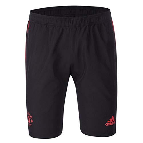 adidas Manchester United FC Official 2018/19 Woven Shorts - Adult - Black - ()