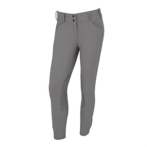 Tailored Sportsman Trophy Hunter Mid Rise Front Zip Breeches Pewter 34R