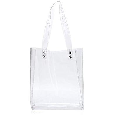 Patty Both Clear PVC Cross Body Bag Clutch Messenger Handbag Tote Shoulder Bag