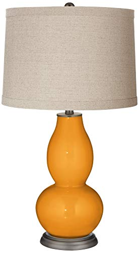 Carnival Linen Drum Shade Double Gourd Table Lamp