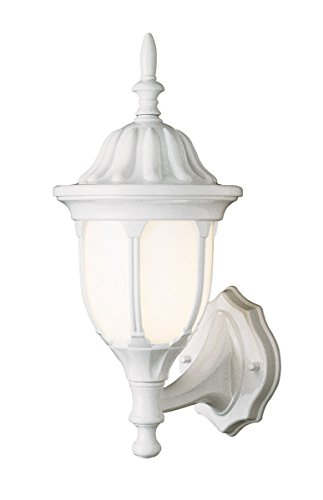 Wall Sconces 1 Light Fixture with White Finish Cast Aluminum Medium 9