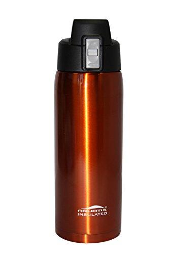 Fliptop Aquatix Insulated Ultimate Sport Fitness Bottle Double Wall 32 ounce Burnt Orange Stainless Steel